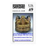 Tiered Seder Set E. Galicia or W. Ukraine, Jewish Stamp