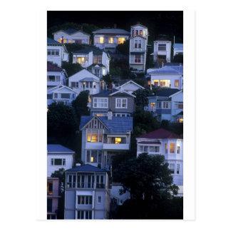 Tiered villas and bungalows Oriental Bay Postcard