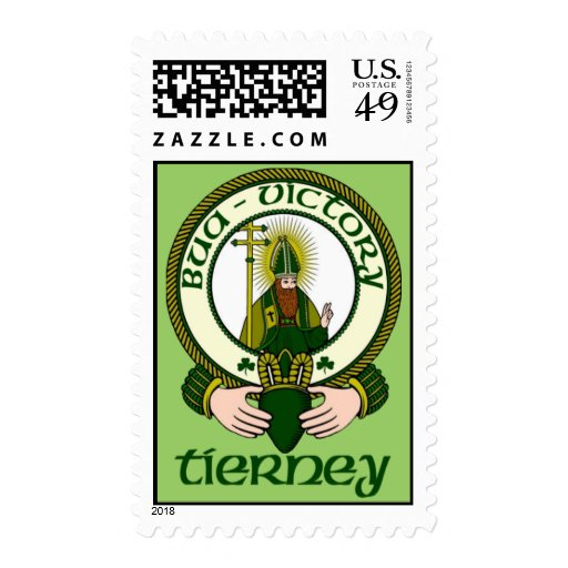 Tierney Clan Motto Postage Stamps