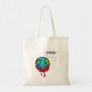 Tierra 2 de la sangría bolsa lienzo