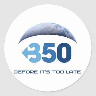 Tierra 350 etiquetas redondas