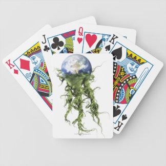 Tierra 5 baraja cartas de poker