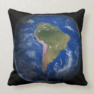 Tierra 5 del planeta cojín decorativo