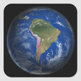 Tierra 5 del planeta pegatina cuadrada