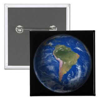 Tierra 5 del planeta pin cuadrado