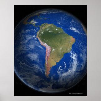 Tierra 5 del planeta póster