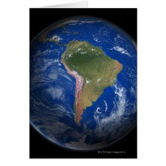 Tierra 5 del planeta tarjeta de felicitación