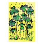 Tierra afortunada tarjetas postales
