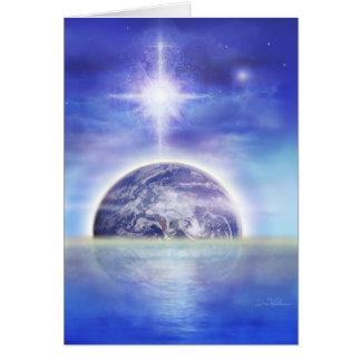 Tierra agua-aire tarjeta de felicitación