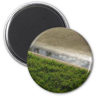 Tierra, agua, concreta imán redondo 5 cm