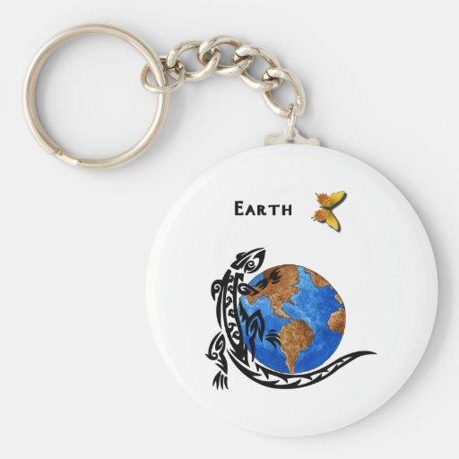Tierra animal llavero personalizado
