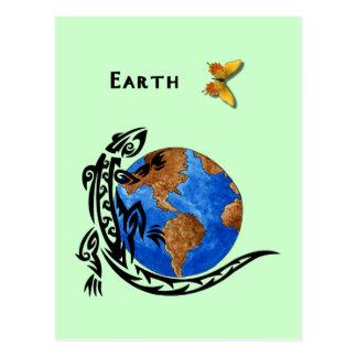 Tierra animal tarjetas postales