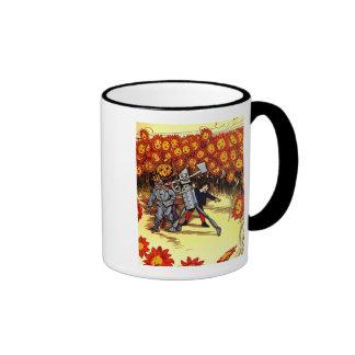 tierra antigua del espantapájaros del leñador de l taza de café