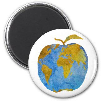 Tierra Apple Imán Redondo 5 Cm