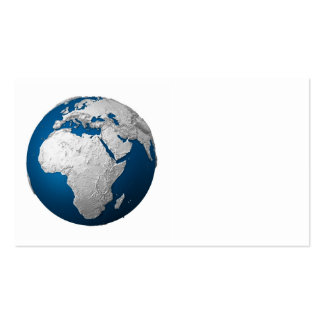 Tierra artificial - África. 3d rinden Tarjetas De Visita