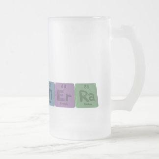 Tierra as Titanium Erbium Radium Frosted Glass Beer Mug