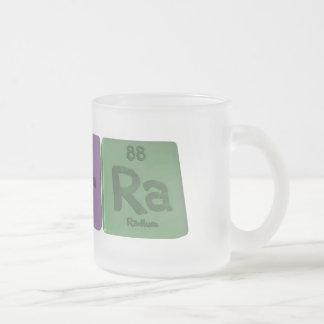 Tierra as Titanium Erbium Radium Frosted Glass Coffee Mug