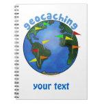 Tierra azul con el personalizado de Geocaching de  Cuadernos