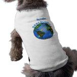 Tierra azul con el personalizado de Geocaching de  Camiseta De Perro