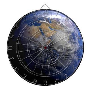 Tierra azul del espacio inspirado