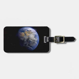 Tierra azul del espacio inspirado etiquetas para maletas
