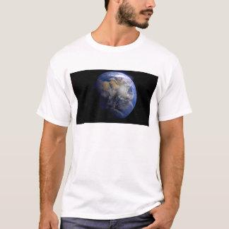 Tierra azul del espacio inspirado playera