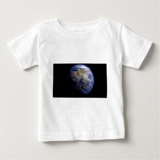 Tierra azul del espacio inspirado playera de bebé