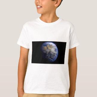 Tierra azul del espacio inspirado poleras