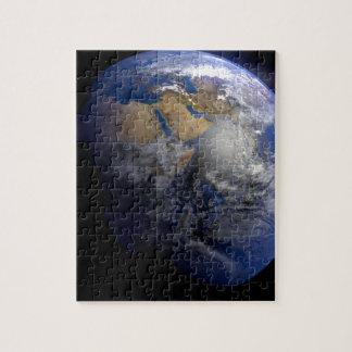 Tierra azul del espacio inspirado puzzle