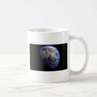 Tierra azul del espacio inspirado taza de café