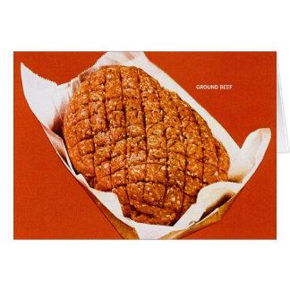 Tierra Beef de la comida del vintage del kitsch ' Felicitacion