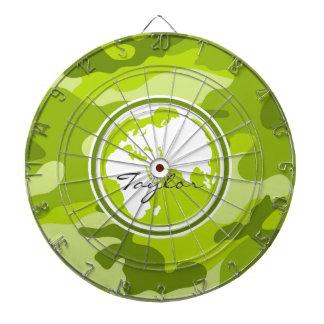 Tierra camo verde claro camuflaje tablero dardos