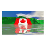 Tierra canadiense de la bandera - tamaño del negoc tarjeta personal