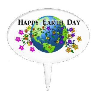 Tierra con las flores - Día de la Tierra Decoración De Tarta