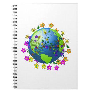 Tierra con las flores libros de apuntes