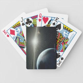 Tierra, correa asteroide y estrella baraja cartas de poker