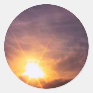 Tierra de 1000 soles pegatina redonda