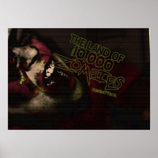 Tierra de 10.000 zombis impresiones