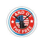 Tierra de América del libre Reloj