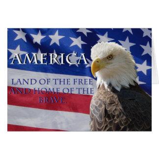 Tierra de América del libre Tarjeta Pequeña