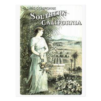 Tierra de California de la postal del vintage de l
