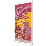 Tierra de California del poster de la promesa Impresiones En Lona Estiradas
