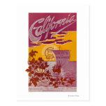 Tierra de California del poster de la promesa Tarjetas Postales