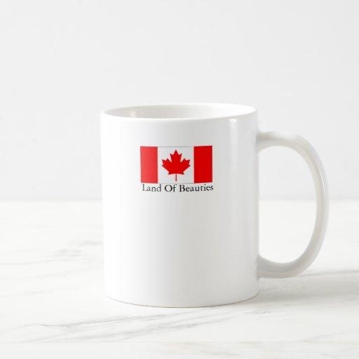 Tierra de Canadá de bellezas Tazas