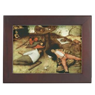 Tierra de Cockaigne de Pieter Bruegel la anciano Caja De Recuerdos