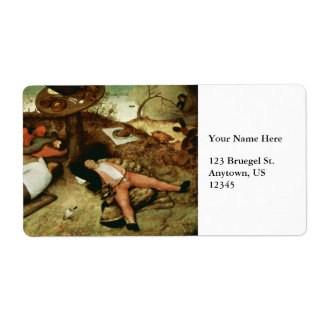 Tierra de Cockaigne de Pieter Bruegel la anciano Etiquetas De Envío