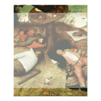 Tierra de Cockaigne de Pieter Bruegel la anciano Tarjeta Publicitaria