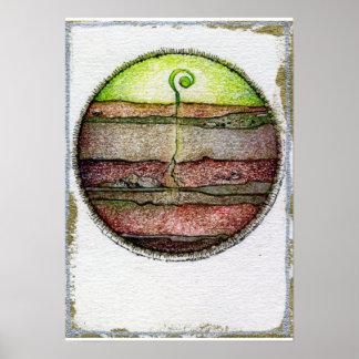 Tierra de cuatro elementos póster
