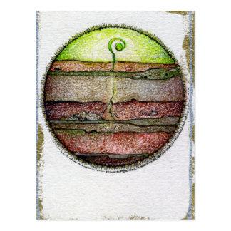 Tierra de cuatro elementos tarjeta postal