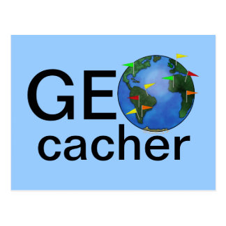 Tierra de Geocacher con el personalizado de Geocac Tarjetas Postales